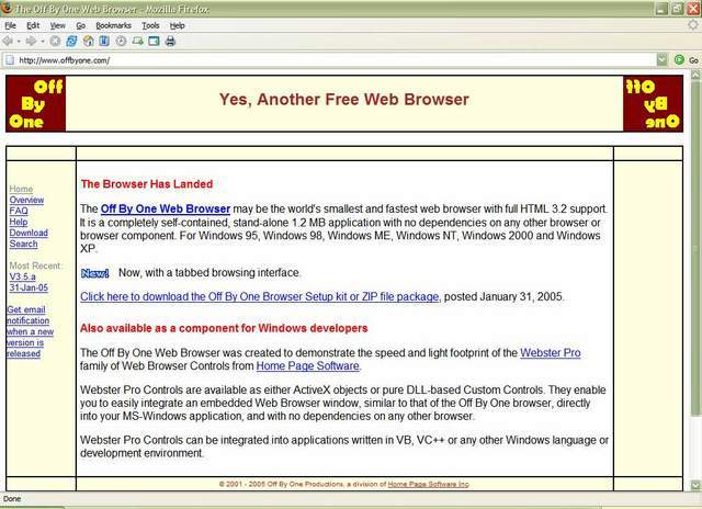 The Off By One Web Browser&hellip;