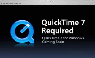 QuickTime 7 for Windows coming soon&hellip;