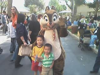 Joshua, Jesse & ? (dunno the chipmunk's name)