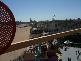 View of the boardwalk from the ferris wheel