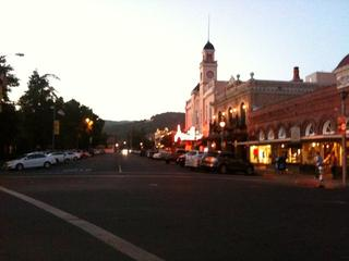 Downtown Sonoma at night