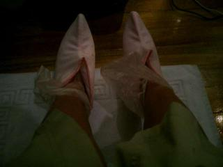Paraffin Treamtent for the feet :-)