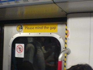 Please mind the gap...