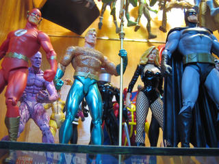 Flash, Aquaman, Black Canary & Batman