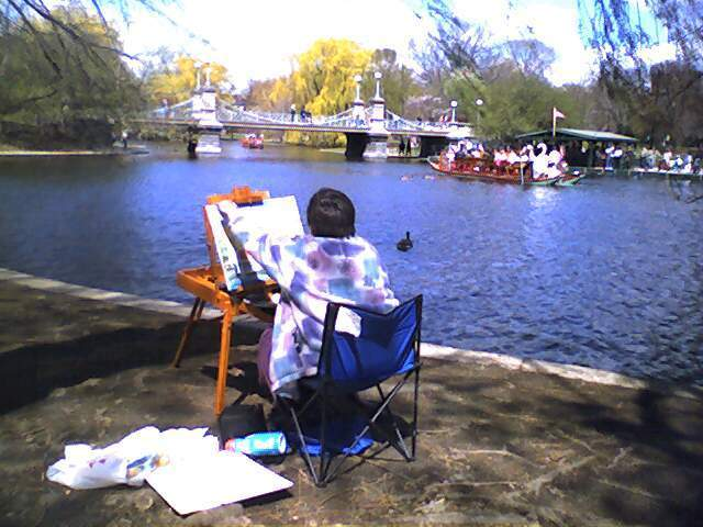 Lakeside Painting