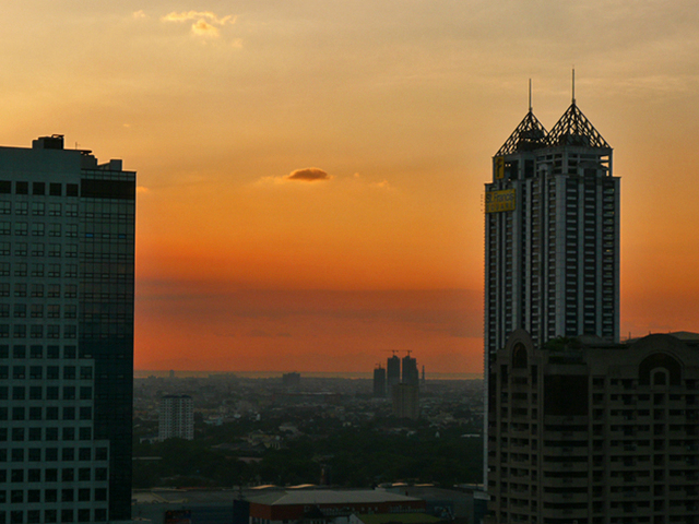 Sunset seen from Pasig