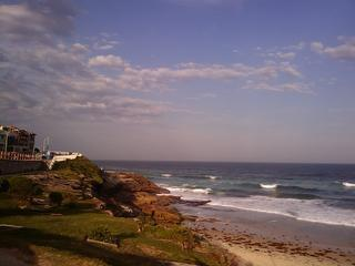 Doing the Bronte to Bondi seaside walk.