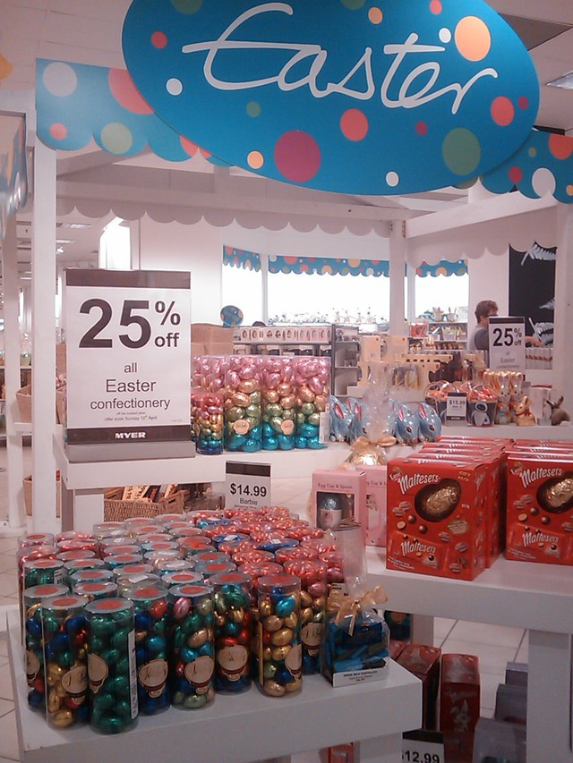 Five days till Easter Sunday and the chocolates are already on sale.