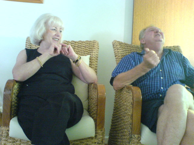 Mum and Pete.