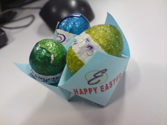 My first Easter eggs this year.