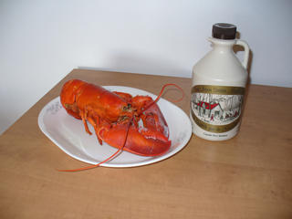 canadiana soul food/ maple syrup and lobster