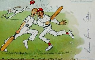 You know what ? I also have cricket postcards...