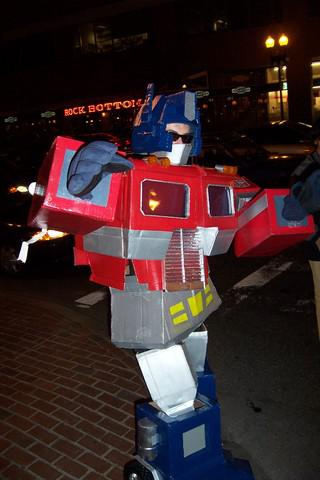 Optimus Prime Out on the Street