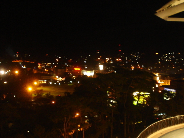 The Park and The City at Night