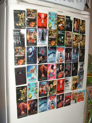 Movie magnet card collections...