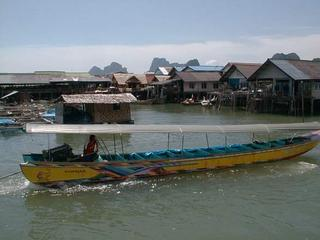 The floating village off Phuket Island
