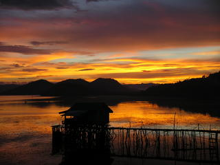 Sunset from our room in Busuanga island