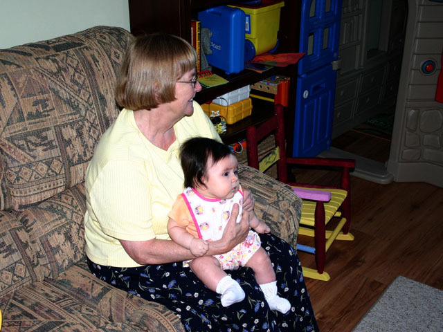 Alena and grandma Simpson