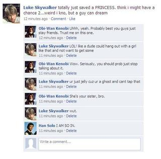 If they had Facebook in Star Wars