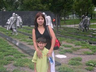 @korean war memorial park in DC