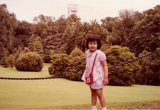 In the Istana grounds