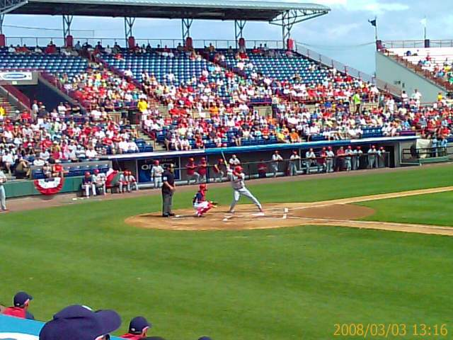 Albert Pujols at the plate